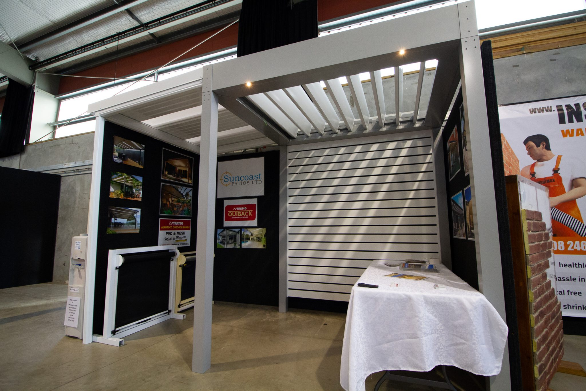 The Suncoast Patios Ltd stand at the Gisborne Home and Lifestyle expo 2018